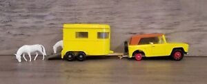 1969 MATCHBOX LESNEY SUPERFAST #18 FIELD CAR With #43 PONY TRAILER
