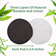 16Pcs Reusable Facial Cleaning Bamboo Fiber Cotton Round Makeup Remover Pads