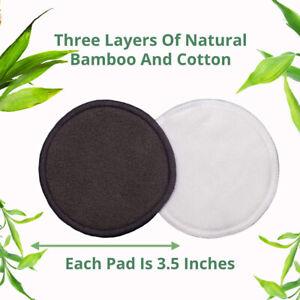 16Pcs Reusable Facial Cleaning Bamboo Fiber Cotton Round Makeup Remover Pads
