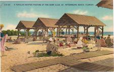 St. Petersburg, FL 1949 post card, beach scene