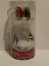 Yankee Candle Christmas Festive Holiday Berry and Leaves Glass Wax Tart Warmer