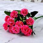 Artificial Carnation 12 Head Fake Flower Bush Bouquet Home Wedding Decor