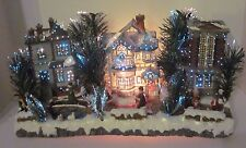 Puleo Fiber Optic Christmas Village Victorian House Brick People Box Horse Ducks