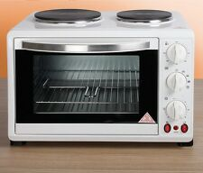 30L White Mini Kitchen Oven and Hob (1440W) For Baking, Cooking Roasting etc.