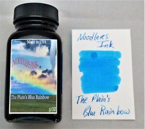 NOODLERS FOUNTAIN PEN INK 3 OZ BOTTLE PLAINS BLUE RAINBOW
