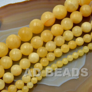 """Wholesale Smooth Natural Gemstone Round Loose Beads 15""""  4mm 6mm 8mm 10mm 12mm"""