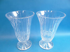 Vintage Pair Chipped Waterford Crystal Decorative Flower Vases Decorative Used