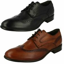 Mens Morena Gabbrielli Formal Lace Up Leather Heeled Brogues FA-B2423