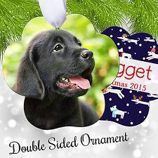 Pet Photo Christmas Ornament - Personalized Picture Keepsake Paw Shape 6016