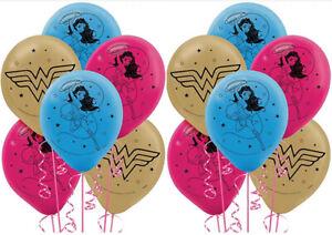 Young DC Latex Balloons | Superstar Wonder Woman Balloons Birthday Decoration 12