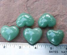 "AVENTURINE 1 Small Polished Heart 15-20gr 1.0-1.25""ea w/ Healing Property Card"