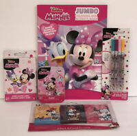 5pc Disney Minnie Mouse Gift Set Coloring Book Crayon Glitter Pens Puzzle Cards