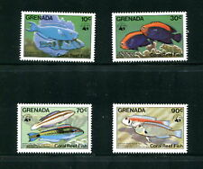 Grenada  1984  #1211-4  WWF Fish Marine  4v.  MNH  E194