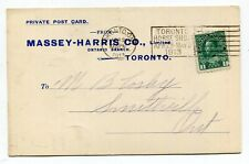 Canada ONT Ontario - Toronto 1913 Massey Harris - Advertising Postcard / Slogan