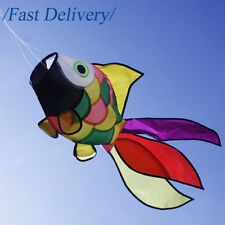 80CM Rainbow Cute Fish Windsock Spinners Kite Tail with Swivel for Garden Decor