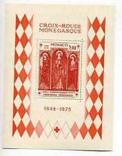 MONACO CROIX ROUGE 1973 neuf sans charnière feuille