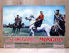 LE SCIMITARRE DEI MONGOLI fotobusta poster Mifune Saga of the Vagabonds AF11