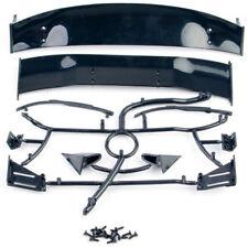 DIY RC 1:10 Model Car Body Sheel Rear Spoiler Tail Wing Side Mirror 025008BK Set
