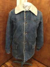 Vintage LEE STORM RIDER SHERPA DENIM Coat Jacket 70's Ranch Work Wear USA Made