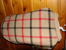 Pet Life Plaid Jacket For Dogs Red, Beige and Black X Large