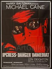 "THE IPCRESS FILE 1965 French 47""x63"" poster Michael Caine filmartgallery"