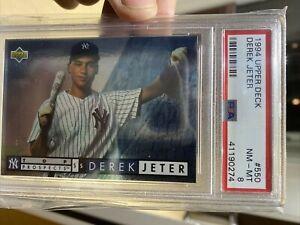 1994 Upper Deck Derek Jeter Rookie Card #550 PSA Near Mint-Mint 8 Graded