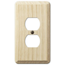 SINGLE DUPLEX UNFINISHED ASH WOOD SWITCHPLATE WALLPLATE BY AMERELLE