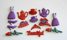Hats & Accessories #4 / Red Hat Lady / Dress It Up / Red & Purple Embellishments