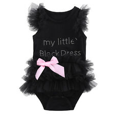 0-3Months Newborn Baby Girls Romper Jumpsuit Bodysuit Tutu Dress Clothes Outfit