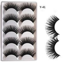 5 Pairs Natural False Eyelashes Extra Long Thick Handmade Fake Eye Lashes Makeup