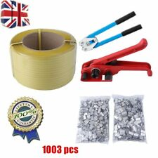 Pallet Parcel Strapping Packing Machine Kit Banding Roll + 1000 Seals Clips Kit