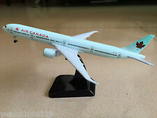 18CM Solid AIR CANADA BOEING 777 Passenger Airplane Plane Metal Diecast Model