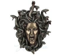 Head Of Medusa Wall Plaque Statue Sculpture Figurine -  SHIPS WORLDWIDE!