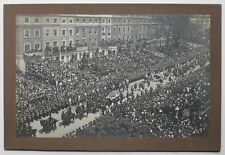 1910 King Edward VII Funeral Procession London Antique Silver Gelatin Photograph