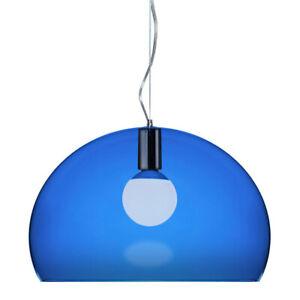 Kartell FL/Y Suspension Lamp - Transparent / Medium: 20.5 in diameter