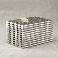 50 Stk Starke Neodym Magnete N50 Rund Magnet Für Pinnwand Kühlschrank 2 x 1 mm