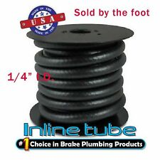 "Rubber Fuel Line Gas Hose 1/4"" ID x 1 foot  SOLD BY FOOT Return Vapor USA"