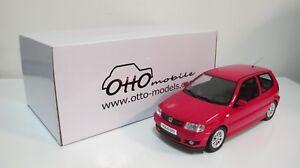 1:18 OTTOMOBILE VW VOLKSWAGEN POLO GTi HATCHBACK RED OT270 RESIN CARS