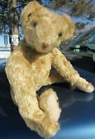 "VINTAGE TEDDY BEAR CUTE 16"" BLONDE MOHAIR VERY LONG ARMS BIG PAWS ARTIST ANTIQUE"