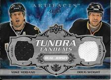 08/09 Artifacts Tundra Tandems Silver Mike Modano Doug Weight Dual Jersey #41/50