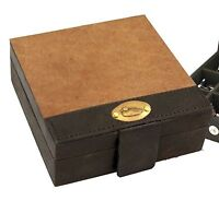 British bag Leather Trinket Box with Duck Plate Mens Gift 25109