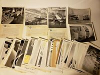 RARE CONTINENTAL AIRLINES PHOTO ARCHIVE LOT X67 40'S - 60'S EX-CON AIR EXECUTIVE