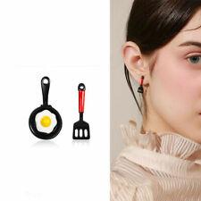 Asymmetric Stud Earrings Enamel Fried Egg Earrings Women Jewelry Funny Gift