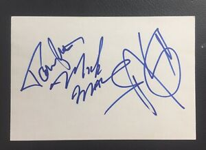 Motley Crüe Signed 4x6 Index Card Tommy Lee, Mick Mars, Nikki Six