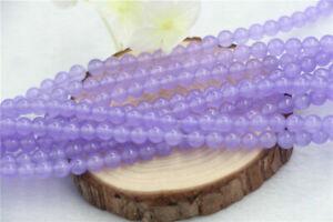 4-14mm Purple Alexandrite Round Gemstone Loose Beads 15''