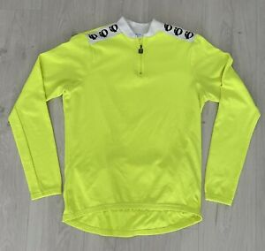 Vintage Pearl Izumi Cycling Jersey Long Sleeve Neon Volt XL Made In Macau