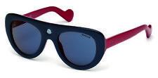 Moncler Snowcat Sunglasses ML 0002 92U Blue Red w/Blue lens 51-22-140mm
