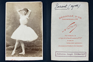 Nadar, Paris, Mademoiselle Parent Vintage cdv albumen print.