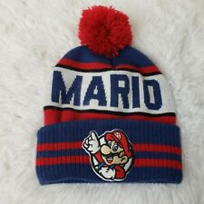 Nintendo Super Mario OSFM Knit Beanie Hat with Mario Character VGUC