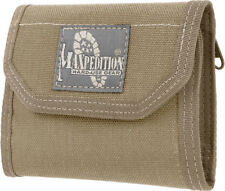 "Maxpedition CMC Wallet 0253K Closed, empty size: 5"" L x 3.5"" H x 1"" W. Open, emp"